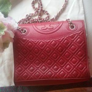 Tory Burch Fleming Bag Brilliant Red